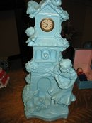 Collectable Rare La Colombiere Blue Ceramic Clock Tower Made In Germany