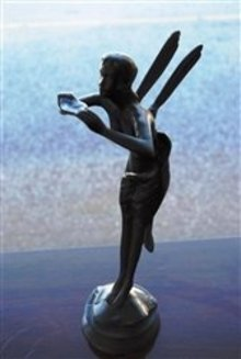 Collectible Bronze Fantasy Whimsical Angel Fairy Figurine, In Great Condition!