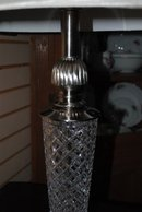 Beautiful Nickel Plate & Crystal Base Lamp with Cut design