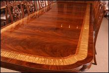 Leighton Hall Large Banquet Table, Dining Table, Conference Table 13.5 ft Long, Clipped Corners
