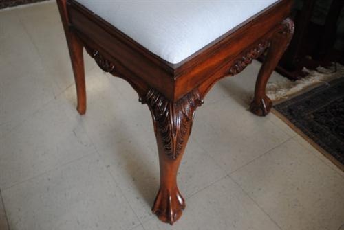 "Floor Sample, 8 Leighton Hall ""18th Century"" Mahogany Dining Chairs, Retail $5500 , LH-1057"
