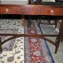 Antique Flaming Mahogany Federal Sheraton Console, Sofa Table