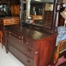 Antique American Empire Mahogany Dresser Swivel Mirror Circa 1890