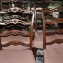 4 Antique Mahogany Chippendale Style Ribbon Back Side Chairs