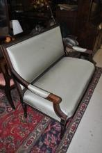 Hickory Chair Sheraton Federal Style Mahogany Settee Love Seat Retail $3000