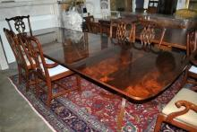 Large Hickory Chair Flaming Mahogany 9.5 ft Long Dining Conference Table Retails $7000.00