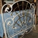 White Queen Size Heavy Cast Antique Style Iron & Brass Design Bed