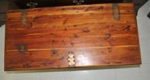 Antique Solid Cedar Hope Chest, Blanket Chest, Trunk
