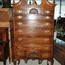 Estate Statton Queen Anne Highboy Chest Fine Mahogany
