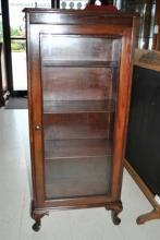 Antique Petite Curio Bookcase 3 Shelf Mahogany Circa 1900