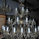 Estate 35 Light European Crystal Large Chandelier 6ft H x 4ft W Cost $30,000