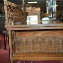 Mid Century Heywood Wakefield Oak Arts & Crafts Mission, Library Sides, Writing Desk
