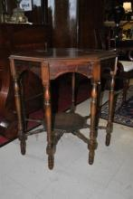 1920's Radio Table, Octagonal, Walnut