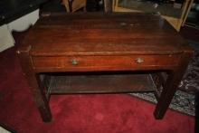 Mission Arts & Crafts Oak Library Table Desk