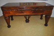 Gorgeous Antique Chickering Empire Revival Square Grand Piano Circa 1863