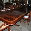 American Made Flaming Mahogany Dining or Conference Table, Over 13 ft. Long $15000 Retail