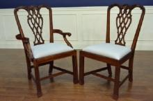 Chippendale M Style Set of 8, 10, 12, 16 Fine Dining Chair, Mahogany, Henredon?
