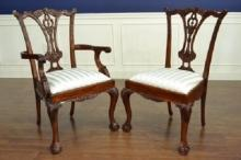 Set of 8, 10, 12, 16 Ball & Claw Chippendale Style Fine Dining Chair, Mahogany, Henredon?