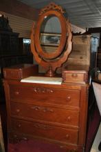 Fine Antique Victorian Wishbone Dresser, Chest, Walnut Circa 1870