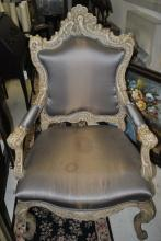 Fabulous Antique Carved Louis XV Roccoco Style Armchair