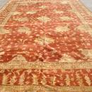 Monumental Oushak Hand Knotted Rug, Terra Cotta, Gold, Same Border 12 ft x 18 ft, PA3094