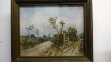 Pleasing Original C.C. Benham Oil Painting, Landscape 9.5