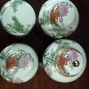 8 Piece Set Antique Fine Japanese Porcelain Ginger Jar Set