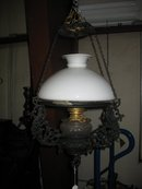 1880's VICTORIAN OIL LAMP, ELECTRIFIED