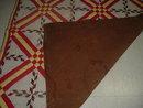 Blazing Star Design Quilt, Red, Yellow, Brown