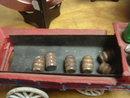 Cast Iron Toy; Horses & Work Cart