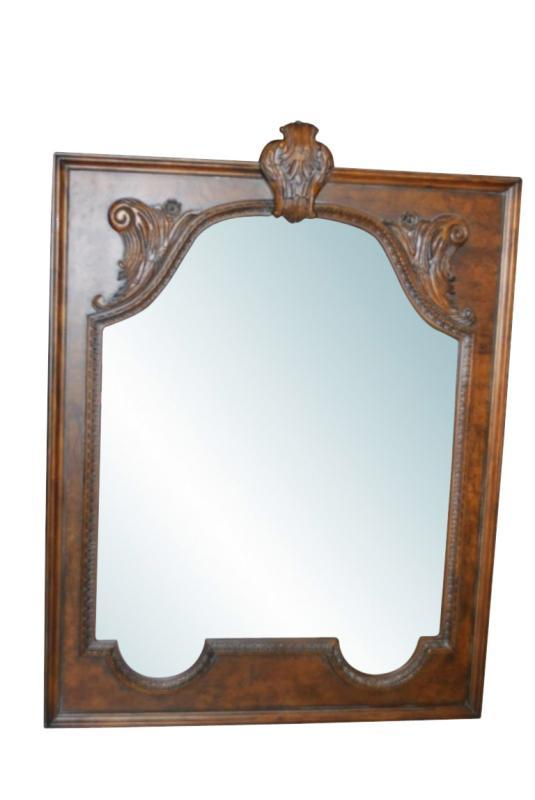 Unused, Showroom Sample Drexel Heritage Carved Wood Mirror