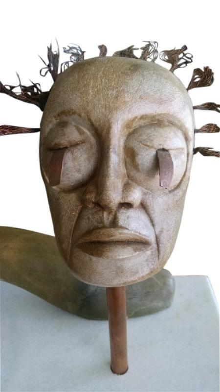 Captivating Dene Indian Saskatchewan Sculpture Artist Wayne Nataway