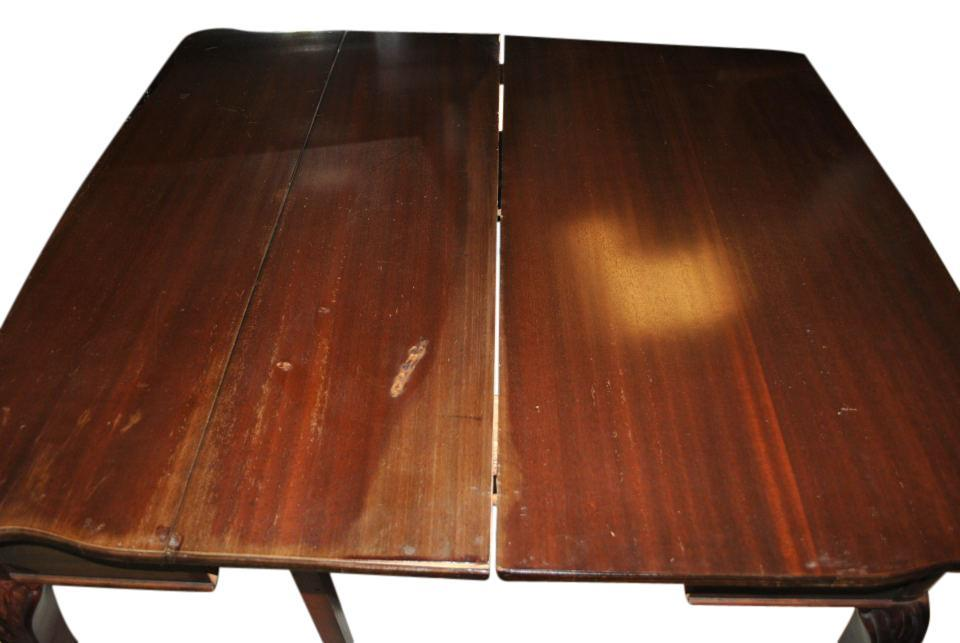 Antique Chippendale Style Mahogany Game Table Circa 1920