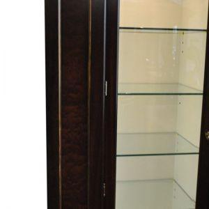 Showroom Sample Councill Langdon China Cabinet, Brownstone Collection, 82″H, PA4243