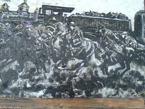 Acrylic Painting by Darenthia Grayson: Train
