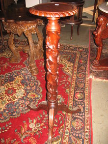 Mahogany Paw Foot Grape Plant , Hand Carved and Crafted Plant Stand.