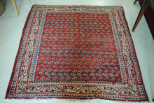 Botteh, Rare Square, Hand Woven, Persian Rug 48 x 48