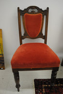 4- Antique Victorian Side Chairs, Solid Walnut