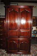 Thomasville Cherry Entertainment Armoire, Clothing Armoire. Retails $3,000
