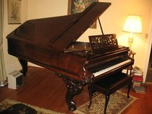 Chickering Antique Rococo Rosewood Grand Piano