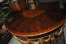 Maitland Smith Demilune, Console Table, Mahogany, Retail $1500