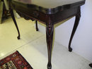 Antique Mahogany, Game Table, Card Table, Queen Anne, Ca 1900