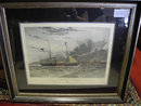 H.M.S Geyser, Hand Colored Print by C. Hunt, Nautical