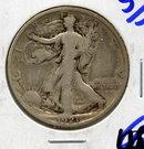1921-S US Walking Liberty Silver Half Dollar Fine KEY DATE