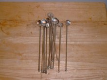 12 matching Art Deco silverplated ice tea spoons