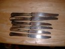 6 Vintage S. Tresch of Zuerich, Switzerland bone handle knives