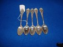 1898 Antique 5 Wallace sterling Richard II Art Nouveau teaspoons