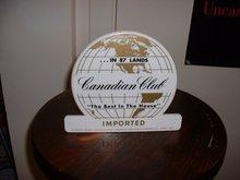 1960's vintage Canadian Club Whisky swizzle stick holder