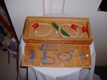 1960's Wood and Rope Ring Toss Game by B&B Toy Mfg. Co.