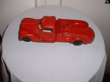Vintaage Hubley Kiddie Toy diecast red pickup truck #486